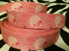 """1 yard of 1"""" Cleveland Browns Grosgrain Ribbon (Pink)"""