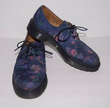 Dr. Doc Martens Air Wair Purple Floral Oxford Lace-up Shoes Size 8 US or 39 Euro