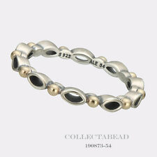 Authentic Pandora Silver & 14K Gold Always And Forever Ring Size (5) 50 190873