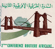 CONFERENCE ROUTIERE AFRICAINE MAROC MOROCCO ENVELOPPE  PREMIER JOUR  FDC MA727