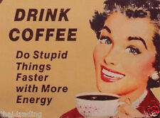 """Funny Vintage Coffee First  Photo Fridge Magnet 2""""x3"""" Collectibles"""