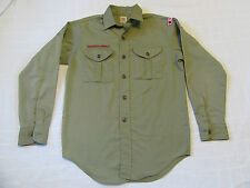 Cub Boy Scout Uniform Shirt Olive Green Long Sleeve Youth L Large 14 - patches