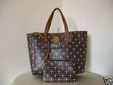 Authentic Tommy Hilfiger EW Shopper 6932764 990 PVC Women Tote Purse Brown Multi
