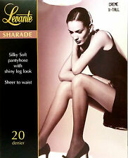 Levante Sharade Silky Soft Shiny Leg 20 Denier Tights Creme XTall