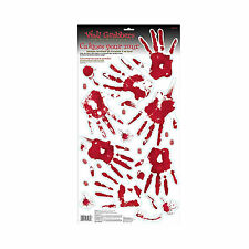 Halloween Bloody Hand Print Wall Stickers Assorted Clings Party Decorations