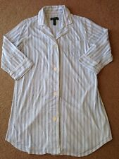 Ralph Lauren Night Shirts Women's Sz Large L Striped Blue & White