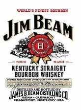 Jim Beam, Bourbon Whiskey, Ideal for a Pub or Bar, Small Metal/Tin Sign, Picture
