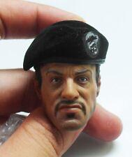 Custom 1/6 Barney Ross HeadSculpt + Hot Toys Original Expandable Black Beret Cap