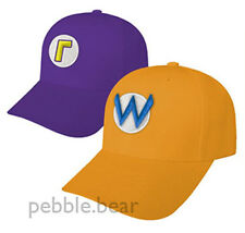 NEW SUPER MARIO & LUIGI COSTUME CAPS WARIO WALUIGI HATS HALLOWEEN FROM NY USA