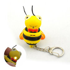 Bee Keychain With Sound Effect Kids Gift Yellow (3 x AG10)