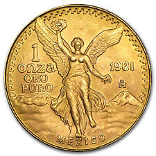 1 oz Gold Mexican Onza or Libertad Coin - Random Year - SKU #25504
