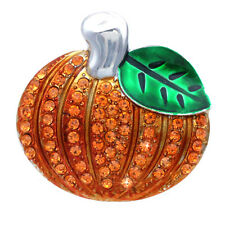 Autumn Fall Harvest Pumpkin Brooch Pin Thanksgiving Halloween Jewelry