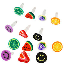 10Pcs Earphone Plug Fruit 3.5mm Anti Dust Headphone Jack For iPhone iPad WFEU