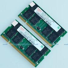 Hynix 2GB 2X 1GB PC2700 333 MHz 200pin DDR 2G Laptop SO-dimm Memory RAM Notebook