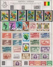 Guinea - Old Mostly Mint Collection from 1930's to 1970's  (4 scans)