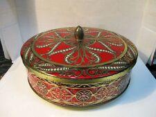 Ancienne boite ronde à gateau en métal DELACRE