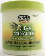 AFRICAN PRIDE OLIVE MIRACLE MOISTURE INTENSE LEAVE-IN CONDITIONER 15 OZ.