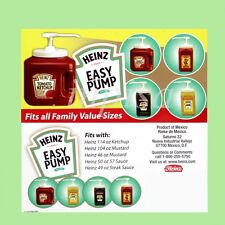 HEINZ 1 EASY PUMP DISPENSER FOR 49oz - 114oz  KETCHUP, MUSTARD, MAYO, SAUCE