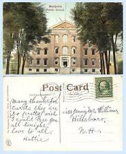 Public School Building Montpelier Vermont 1910 Postcard Architecture - Scarce