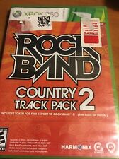 Rock Band - Country Track Pack 2 -  Xbox 360 ReSealed!