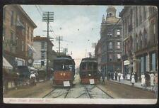 POSTCARD RICHMOND IN MAIN STREET STORES & TROLLEY #48 & #62  1907