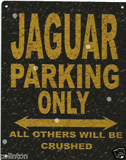 JAGUAR PARKING METAL SIGN RUSTIC VINTAGE STYLE 6x8in 20x15cm garage