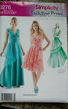 Simplicity Sewing Pattern 0276 Women's Size 4 6 8 10 12 Prom Dresses Uncut