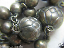 † SCARCE HTF 1800s ANTIQUE FRENCH BRASS ETCHED PATER BEAD UNIQUE  ROSARY  †