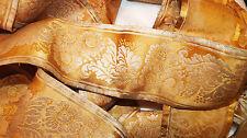 Ancien ruban en soie XIXème...Rare ruban de 5m19 de longueur