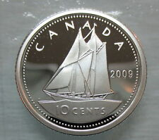 2009 CANADA 10 CENTS PROOF SILVER DIME COIN