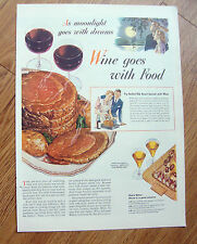 1944 Wine Goes with Food Ad 1944 RCA Victor Artists Ad 1944 Green Giant Ad