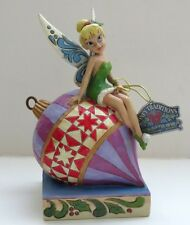 Christmas Disney Jim Shore Figurine Tinker Bell's Having A Ball  Autographed