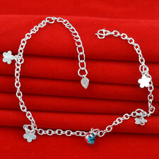 Jewelry Fashion 925 silver crystal chain Bracelet Anklet gift for women N-294