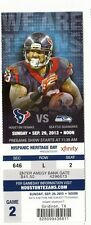 2013 HOUSTON TEXANS VS SEATTLE SEAHAWKS TICKET STUB 9/29/14 ARIAN FOSTER