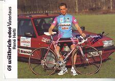 CYCLISME carte cycliste RENE HEFTI équipe GS WUTHRICH-EDCO signée
