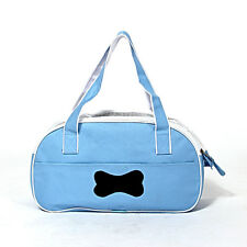New Small Pet Carrier OxFord Soft Sided Cat Dog Travel Tote Shoulder Bag Blue