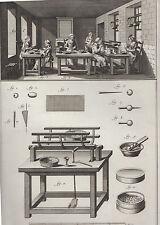 Diderot e D'Alambert, 1778, smaltatore, lavoratrici delle perle, acquaforte