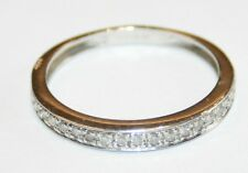 Nice Traditional 9ct White Gold Diamond Eternity Ring Size M 1/2