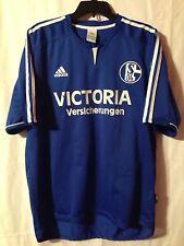 adidas FC Schalke 04 Soccer Football XL Jersey Victoria Versicherungen