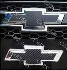 A Pair Carbon Fiber Badge Stickers Adhesive Graphic Decals For Chevrolet (09-15)