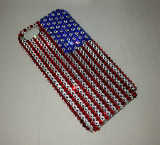 American Flag Crystal Diamond Back Case For IPHONE 6s 6 Made w/ SWAROVSKI Elemts