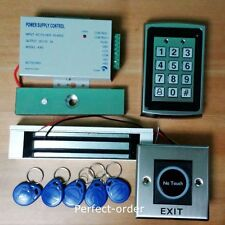 Security RFID Card Door Access Control System+Magnetic Lock+IR Exit Button Top