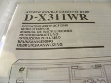 Sansui  D-X311WR Owner's Manual  Operating Instructions Istruzioni New
