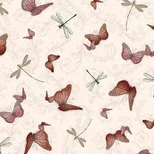 La Vie en Rose mariposas en camafeo cuarto Gordo Impresión De Algodón