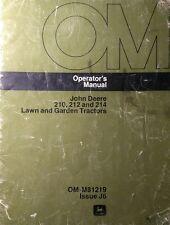 John Deere 200 210  212  214 Lawn Garden Tractor & 31 Tiller Owners (2 Manuals)