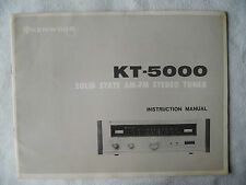 KENWOOD KT 5000,INSTRUCTION MANUAL von. 1970,KT 5000 TUNER ZUSTAND GUT,ENGLISCH