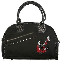 Banned Apparel 50s Rockabilly Polka Dot Anchor Rose Sailor Handbag Shoulder Bag