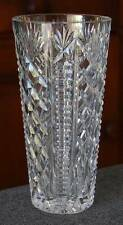 "GORGEOUS WATERFORD CRYSTAL HEAVILY FACETED ""CLARE""  HTF 8-INCH CUT GLASS VASE"