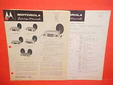 1955 1956 1957 1958 CHEVROLET BUICK PONTIAC MOTOROLA AM RADIO SERVICE MANUAL
