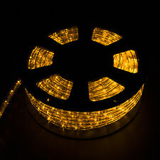100FT LED Rope Light Home In/Outdoor Christmas Decorative Party Yellow 110V
